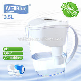 Mineral Alkaline Water Filter Pitcher BPA Free For Helps Filter Out Chlorine