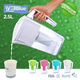 China Household Portable Alkaline Water Pitcher 2.5L With Activated Carbon filter factory