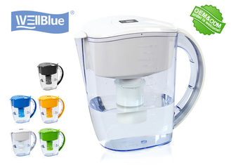 China good quality BPA Free Plastic Alkaline Well Blue Water Filter Pitcher 3.5L Multi Colored Available on sales