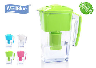 China 2.5L Plastic Wellblue Alkaline Water Pitcher , Pure Alkaline Mineral Water Maker factory