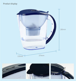 China BPA Free Maxtra Alkaline Water Filter Pitcher 3.5L Capacity Customized Color factory