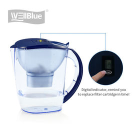 China Hydrogen Rich Portable Alkaline Water Pitcher With Activated Carbon Filter factory