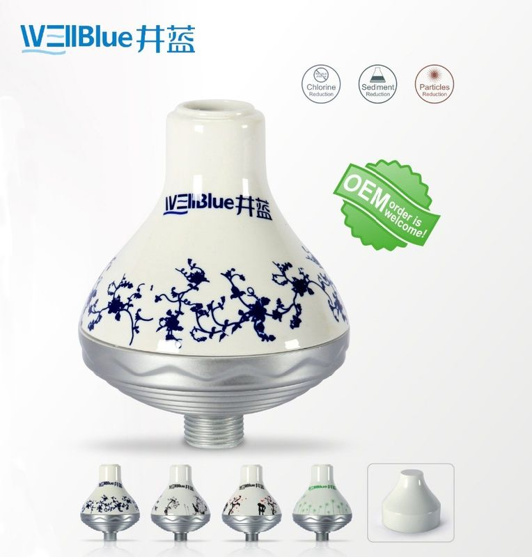 WellBlue OEM Chlorine Removal Shower Filter , Portable SPA Shower Head Filter supplier