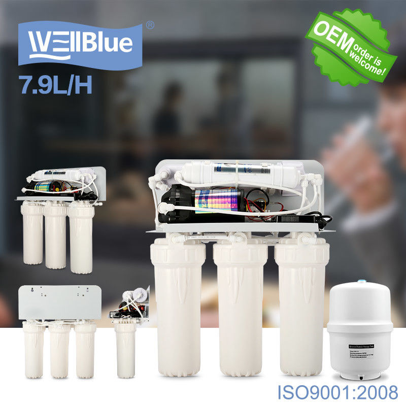 Household Reverse Osmosis Water Filtration System With 3.2G Storage Tank supplier