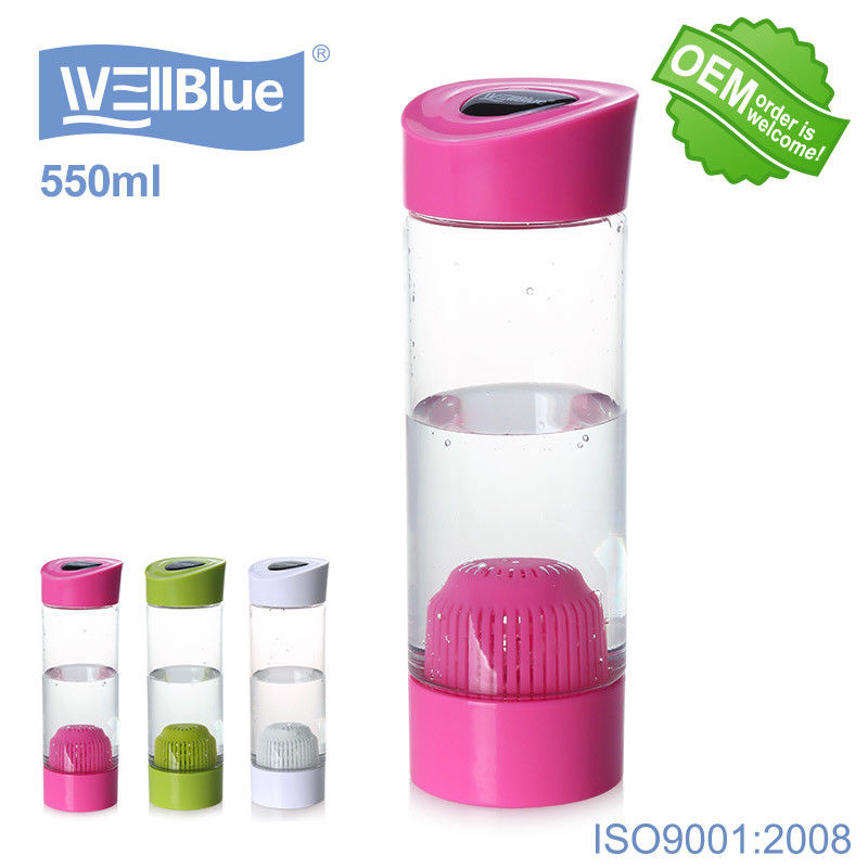 Plastic 550ML BPA Free Mineral Alkaline Water Bottle No Battery No USB Charge supplier