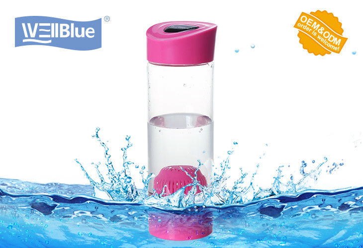 Food Grade Pink Alkaline Ionized Water Bottles For Daily Water Purify supplier