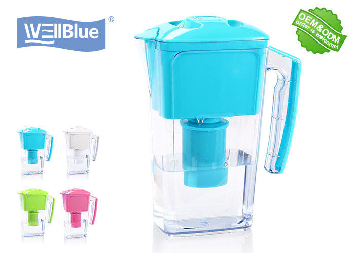 Food Grade AS Material Alkaline Water Pitcher , 2.5L Water Filter Kettle