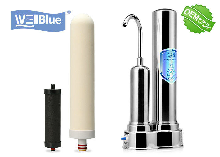 Stainless Steel Housing Ceramic Countertop Water Filter System Stand Installation supplier