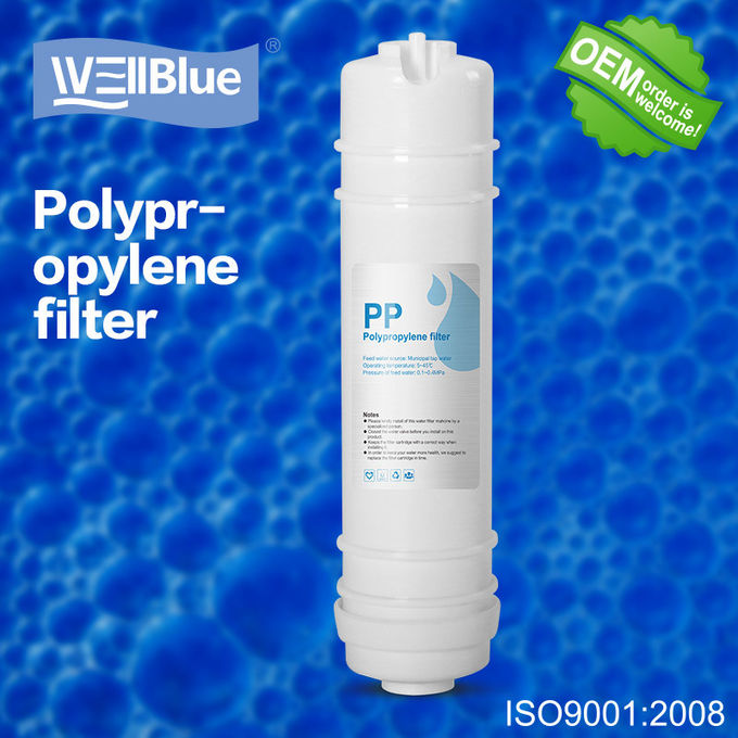 White PP Cotton RO Water Filter Replacement , 10 Inch Sediment Filter Cartridge