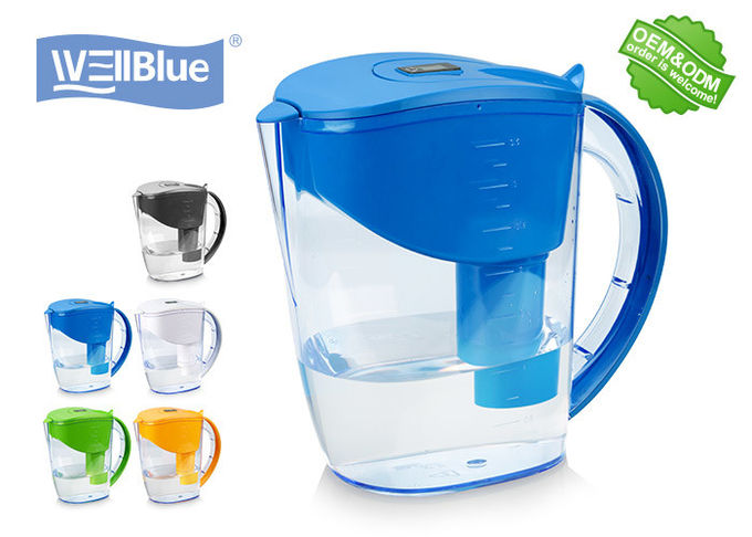 3.5L BPA Free Alkaline Mineral Water Filter Pitcher With Brita Classic Filter